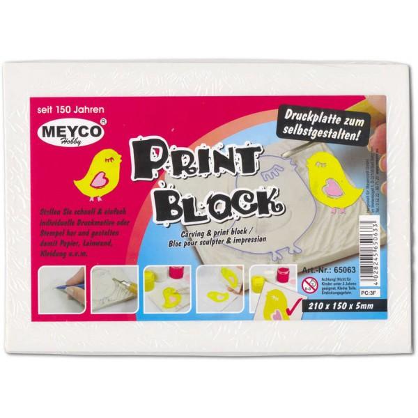 Stempelblock zum Schnitzen 21 x 15 x 0,5 cm von Meyco Hobby (65063)