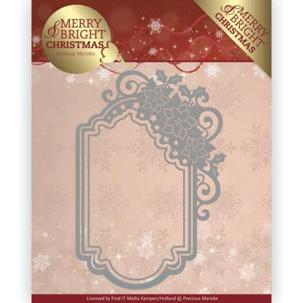 Poinsettia Ornament / Weihnachtsstern Rahmen - Stanzschablone