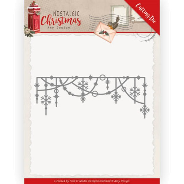 Hanging Snowflakes - Nostalgic Christmas - Stanzschablone