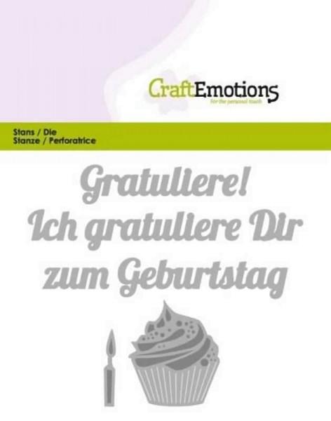 Gratuliere zum Geburtstag - Textschablone von CraftEmotions (115633/0423)