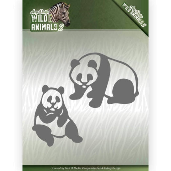 Panda Bär - Stanzschablone
