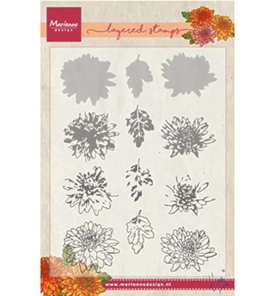 Tiny´s chrysant (layering) / Winteraster - Stempel / Clearstamp