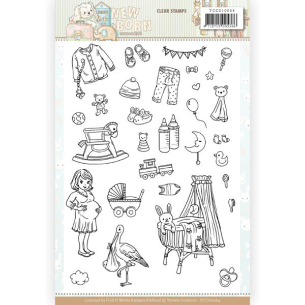 Newborn - Clearstamp / Stempel von Yvonne Creations (YCCS10064)