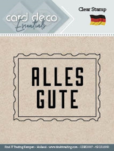 Alles Gute - Textstempel - ClearStamp