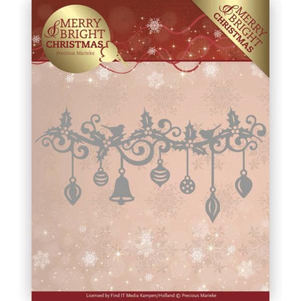 Weihnachtliche Girlande - Stanzschablone
