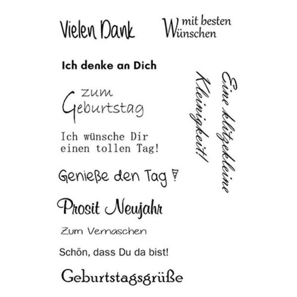 Geburtstag 6 - Clear Stamp - Stempelplatte von efco (4511111)