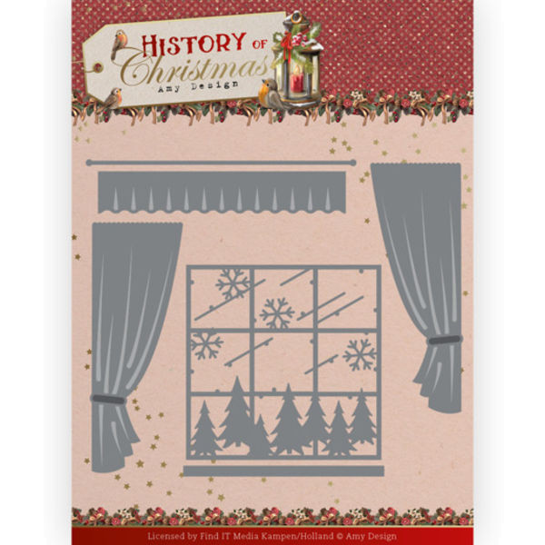 Window with Curtails - History of Christmas Collection von Amy Design (ADD10243)