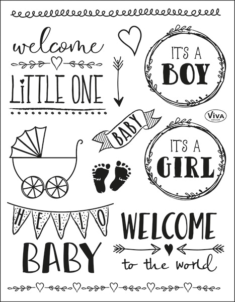 Hello Baby - Stempel - Clearstamp