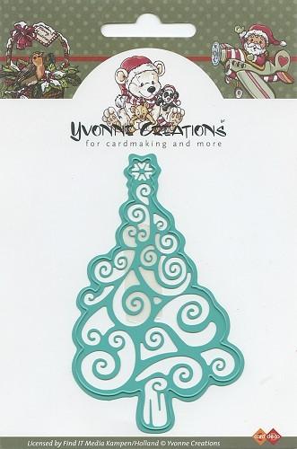 Christmas tree / Weihnachtsbaum Stanzschablone von Yvonne Creations