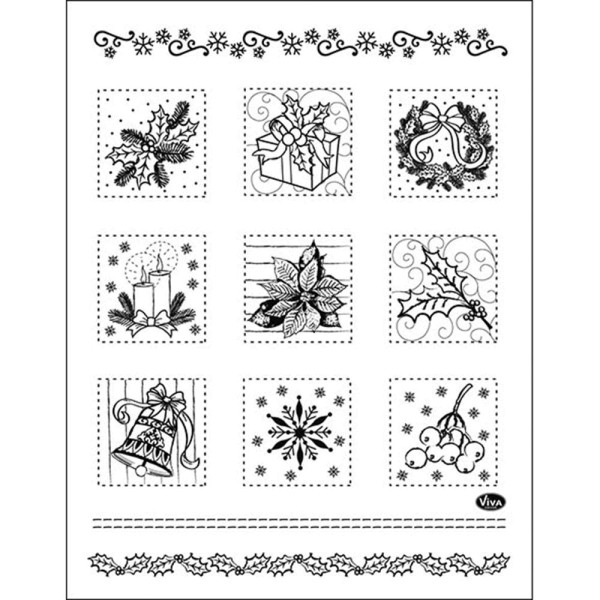 Weihnachtspatchwork - Stempel / Clearstamp