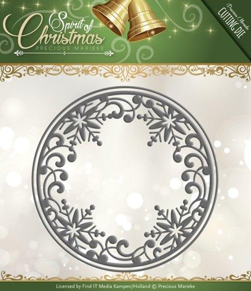 Kreis aus Schneeflocken / Snowflake Circle - Stanzschablone