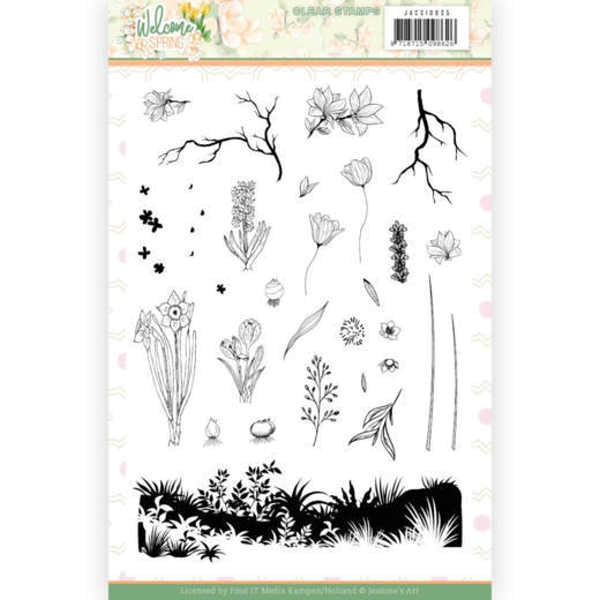 Welcome Spring - Stempel / Clearstamp