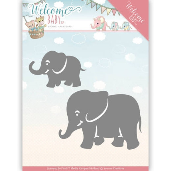 Little Elephant - Welcome Baby - Stanzschablone