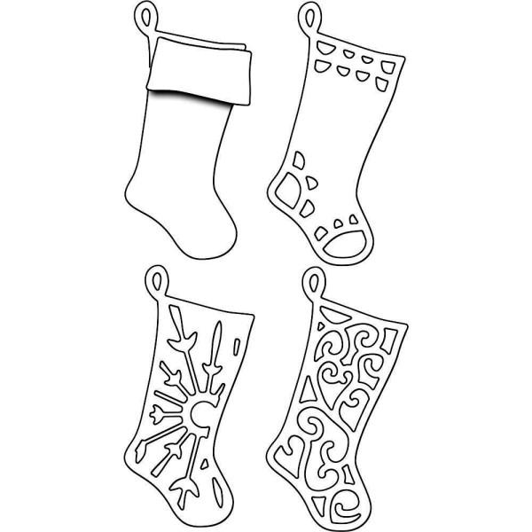 Layered Stockings / Socken - Creative Die - Stanzschablone