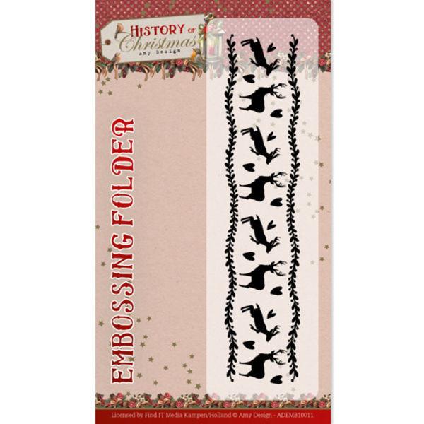 History of Christmas - Prägeschablone / Embossing Folder von Amy Design (ADEMB10011)