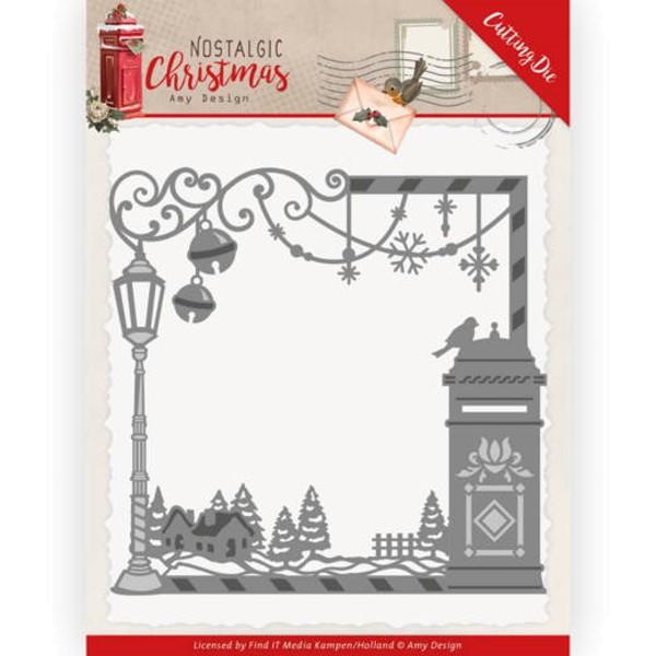 Christmas Mail Box - Nostalgic Christmas - Stanzschablone