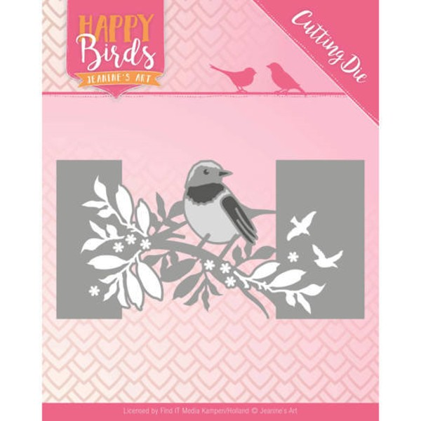 Bird Sleeve / Vogel-Randschablone - Happy Birds Collection - Stanzschablone
