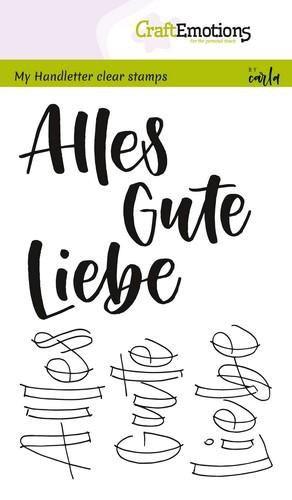 Alles Gute, Liebe - Clear Stamp - Stempelplatte von Craft Emotions (130501/1857)