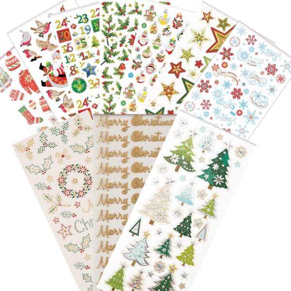 """PAPERMANIA Sticker Set 3 - """"Weihnachten / Xmas"""" - 10 Blatt 22x10cm"""