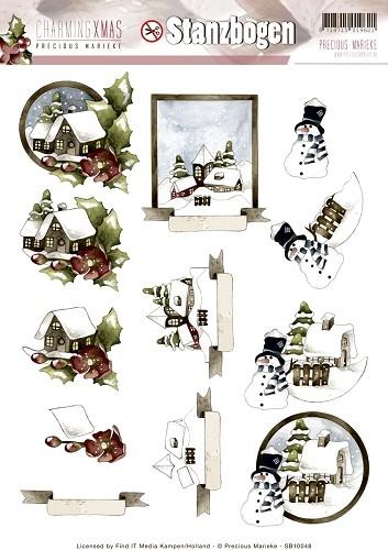 Winterlandschaft - Charming Xmas - 3D - Stanzbogen SB10048