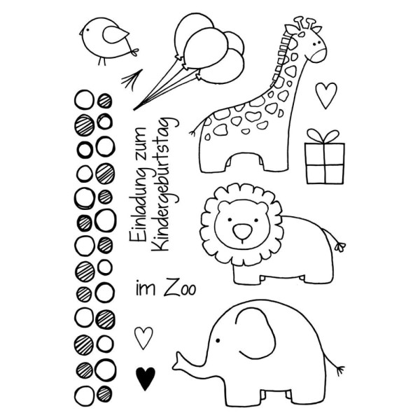 Zoo kindlich - Stempel - Clearstamp