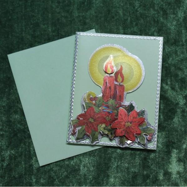 Grusskarte zum Weihnachtsfest - im Miniaturformat