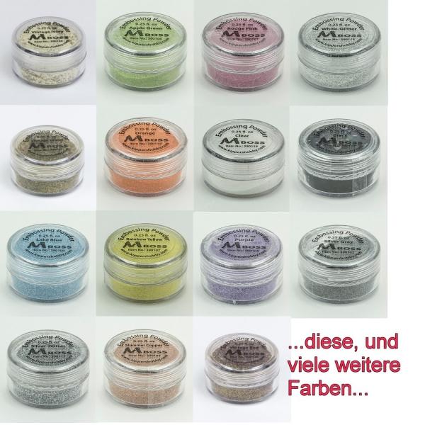 Embossingpulver - 7,5g Dose - 25 versch. Farben