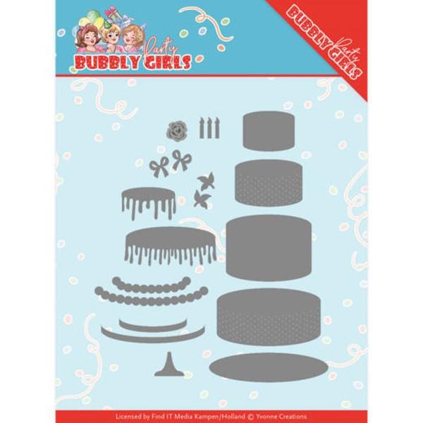 Geburtstagskuchen / Birthday Cake - Bubbly Girls Party Collection - Stanzschablone