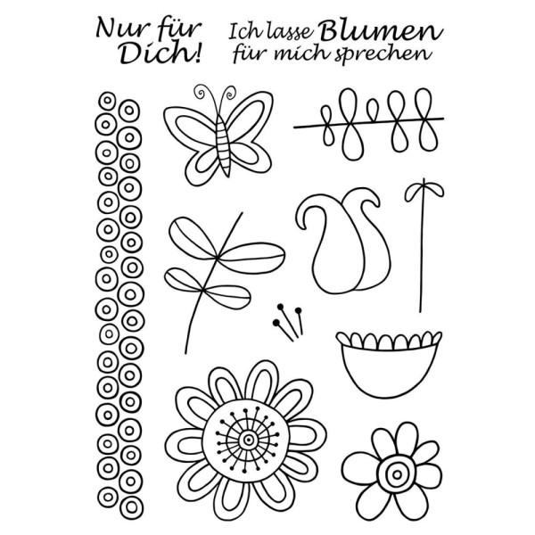 Blumen - Stempel - Clearstamp