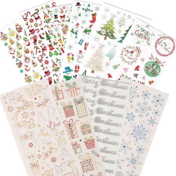 """PAPERMANIA Sticker Set 4 - """"Weihnachten / Xmas"""" - 10 Blatt 22x10cm"""