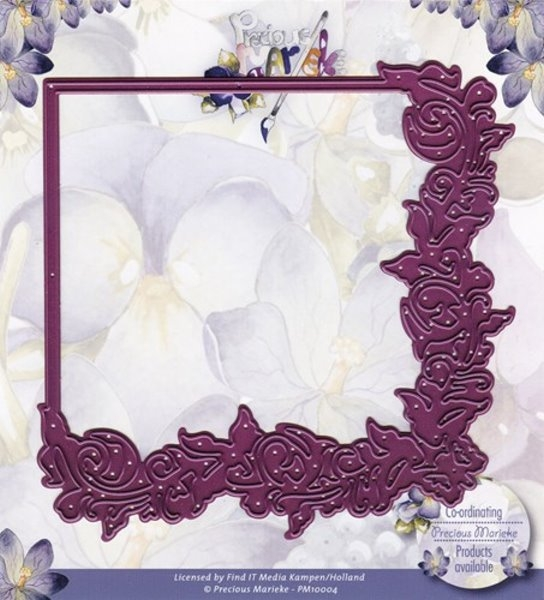 Blumen - Rahmen und/oder Ecke - Stanzschablone