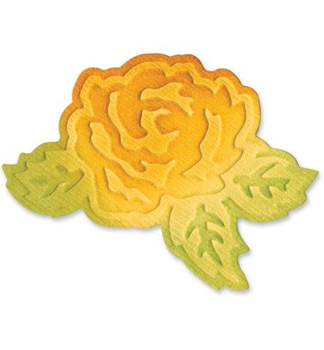 Flower w/Leaves - Stanz- & Prägeschablone