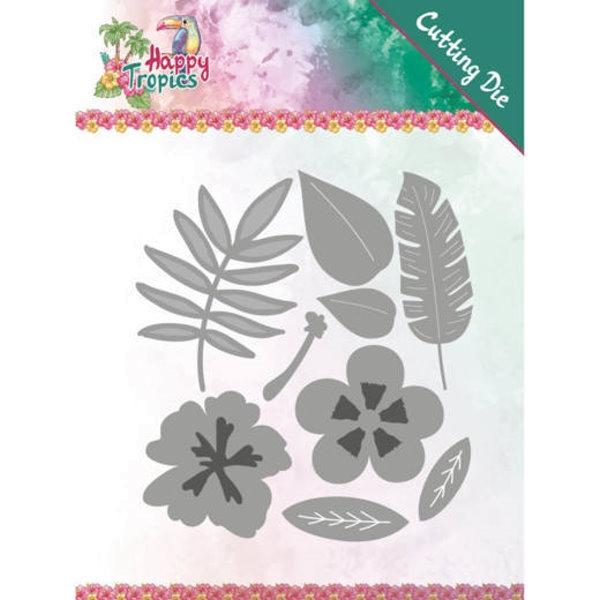 Tropical Blooms / Tropische Blumen - Stanzschablone