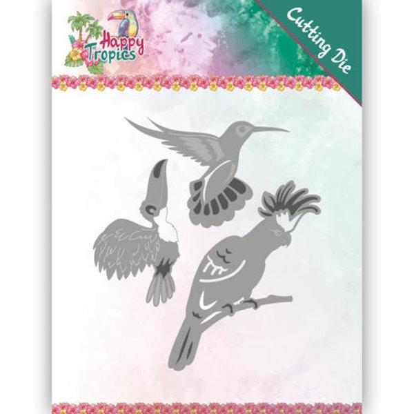 Exotische Vögel / Exotic Birds - Stanzschablone