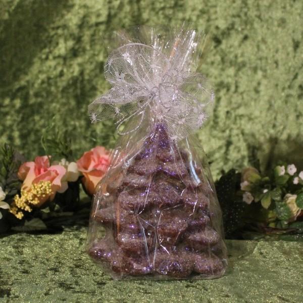 Weihnachtskerze - Weihnachtsbaum mit Effektlackierung