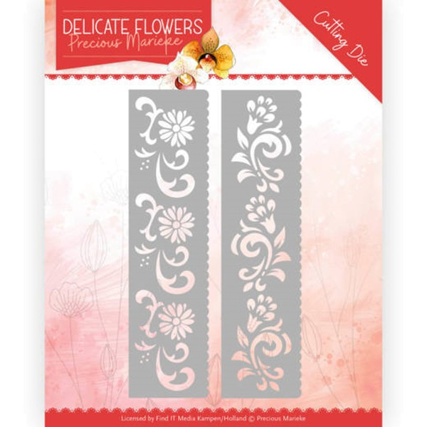 Delicate Flower Border - Delicate Flowers Collection - Stanzschablone