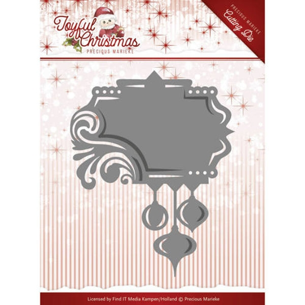 Label Ornament / Weihnachtliches Ornament als Label - Stanzschablone