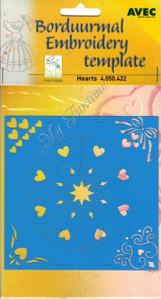 Herzen - Prägeschablone / Embossing-Folder