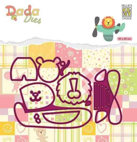 Löwe im Flugzeug - DADA Baby Dies Collection von Nellie´s Choice (DDD024)