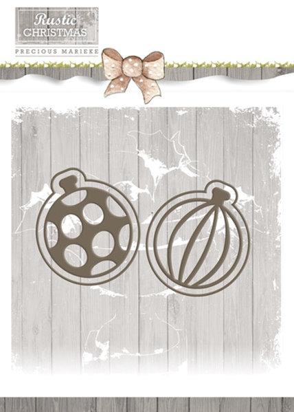 Weihnachtskugeln - Set - Stanzschablone
