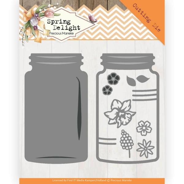 Spring Jar / Krug / Marmeladenglas - Stanzschablone