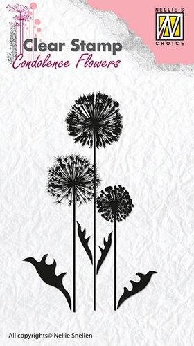 Kondolenz - Blumen No.6 - Stempel - Clearstamp
