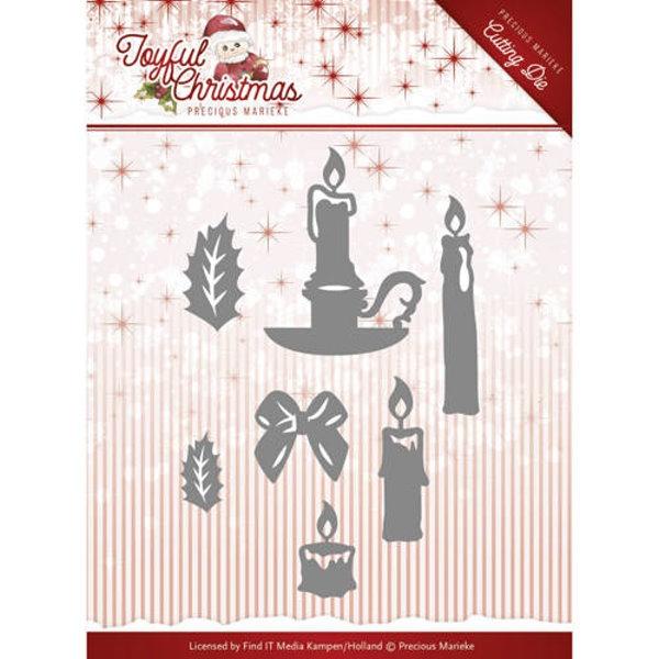 Christmas Candles / Adventskerzen - Stanzschablone