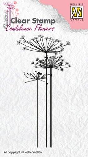 Kondolenz - Blumen No.1 - Stempel - Clearstamp