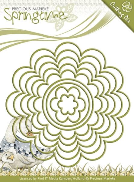 Nesting-Frame / Blüten und Kreise - Stanzschablone
