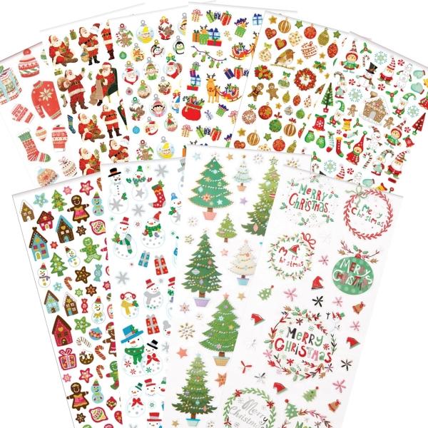 """PAPERMANIA Sticker Set 8 - """"Weihnachten / Xmas"""" - 10 Blatt 22x10cm"""