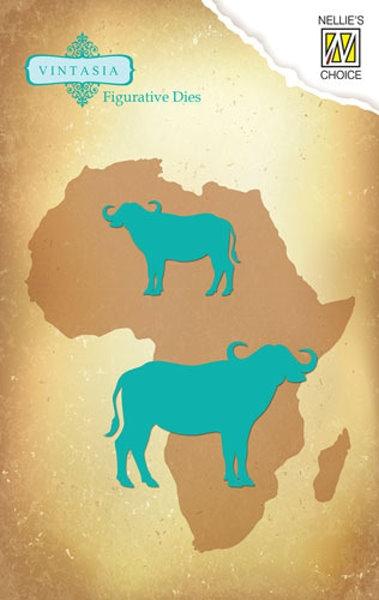 Cape Buffalo - Stanz- und Prägeschablone