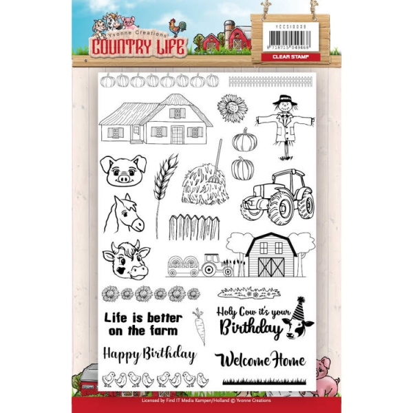 Country Life - Clearstamp / Stempel