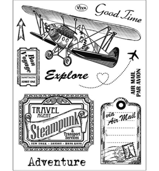 Adventure - Stempel / Clearstamp