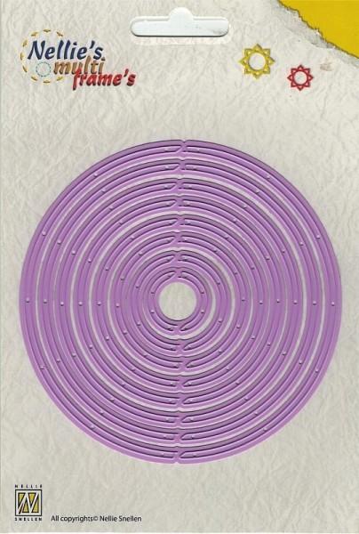 revolving round / rotierende Kreise - Stanzschablone